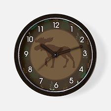Rustic Moose Nature Wall Clock Wall Clock