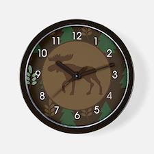 Rustic Moose Wall Clock Wall Clock