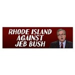 Rhode Island Against Jeb Bush Bumper Sticker