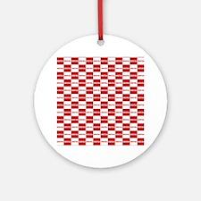 Hrvatska Checkerboard Ornament (Round)