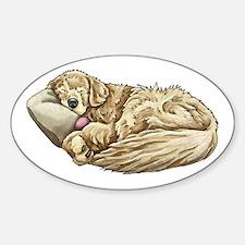 Sleeping Golden Retriever Decal