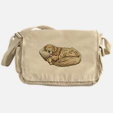Sleeping Golden Retriever Messenger Bag