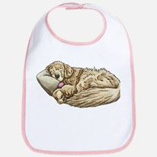 Sleeping Golden Retriever Bib