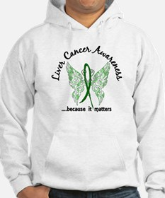 Liver Cancer Butterfly 6.1 Hoodie