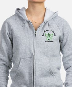 Liver Cancer Butterfly 6.1 Zip Hoodie