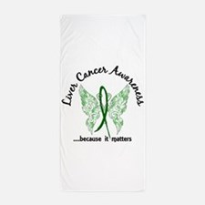 Liver Cancer Butterfly 6.1 Beach Towel