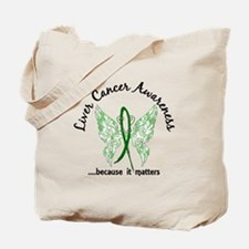 Liver Cancer Butterfly 6.1 Tote Bag