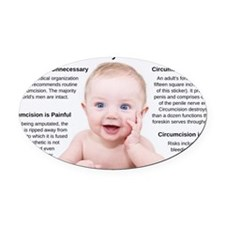 Protect your son: Say NO to circum Oval Car Magnet