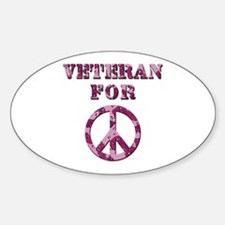 Veteran for Peace Oval Decal
