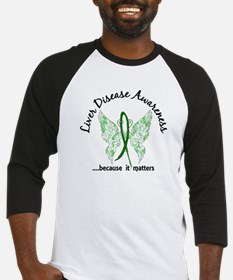 Liver Disease Butterfly 6.1 Baseball Jersey
