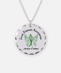 Liver Disease Butterfly 6.1 Necklace