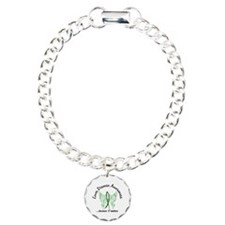 Liver Disease Butterfly Charm Bracelet, One Charm