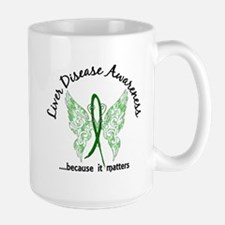 Liver Disease Butterfly 6.1 Mug