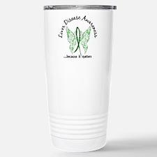 Liver Disease Butterfly Travel Mug