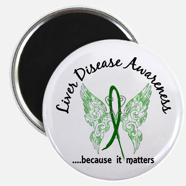 Liver Disease Butterfly 6.1 Magnet
