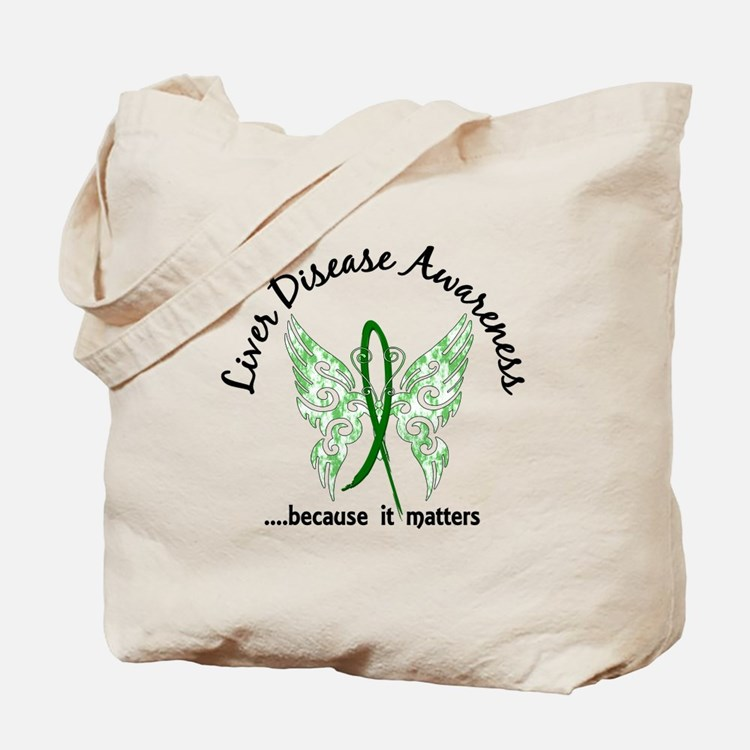 Liver Disease Butterfly 6.1 Tote Bag