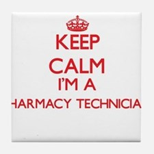 Keep calm I'm a Pharmacy Technician Tile Coaster