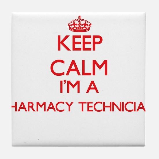 Keep calm I'm a Pharmacy Technician Tile Coaster