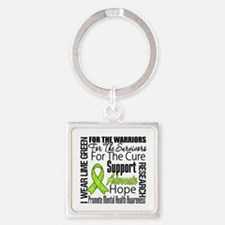 Mental Health Square Keychain