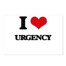 I love Urgency Postcards (Package of 8)