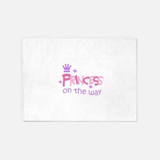 PRINCESS ON THE WAY 5'x7'Area Rug