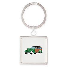 CLASSIC WOODY CAR Keychains