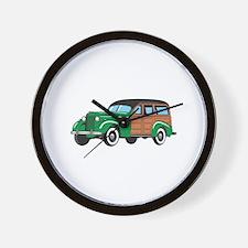 CLASSIC WOODY CAR Wall Clock