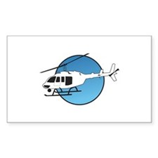 HELICOPTER AND SKY Decal