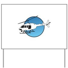 HELICOPTER AND SKY Yard Sign