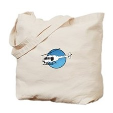 HELICOPTER AND SKY Tote Bag