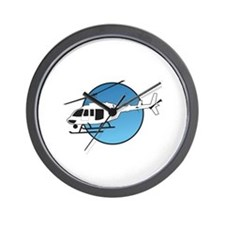 HELICOPTER AND SKY Wall Clock
