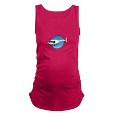 HELICOPTER AND SKY Maternity Tank Top