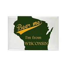 Unique Wisconsin green bay Rectangle Magnet
