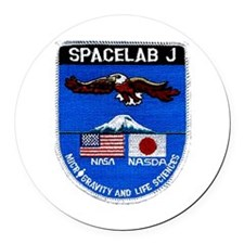 Spacelab J Round Car Magnet