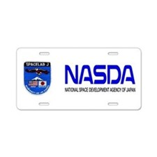 Spacelab J Aluminum License Plate