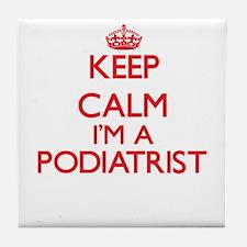 Keep calm I'm a Podiatrist Tile Coaster