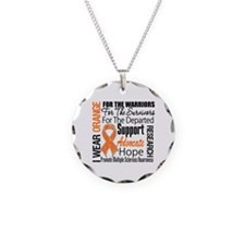 Multiple Sclerosis Necklace Circle Charm