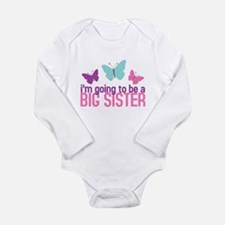 Cool Soon to be big sister Long Sleeve Infant Bodysuit