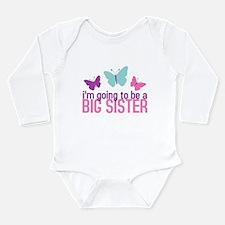 Unique Big sister again Long Sleeve Infant Bodysuit