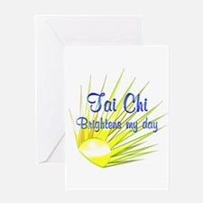 Tai Chi Brightens Greeting Card