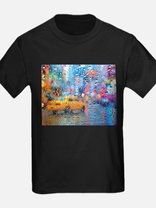 Times Sq. Taxi: Rain Storm T-Shirt