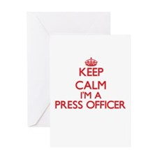 Keep calm I'm a Press Officer Greeting Cards