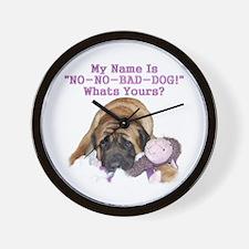 no no bad dog Wall Clock