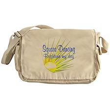 Square Dancing Brightens Messenger Bag