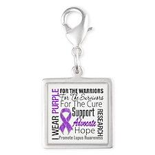 Lupus Silver Square Charm