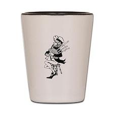 Leprechaun Playing Bagpipes Shot Glass