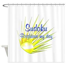 Sudoku Brightens Shower Curtain