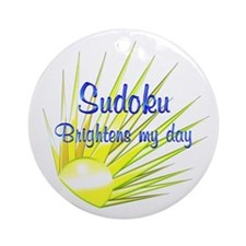 Sudoku Brightens Ornament (Round)