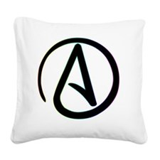 Dark Rainbow Atheist Square Canvas Pillow