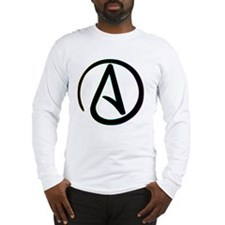 Dark Rainbow Atheist Long Sleeve T-Shirt